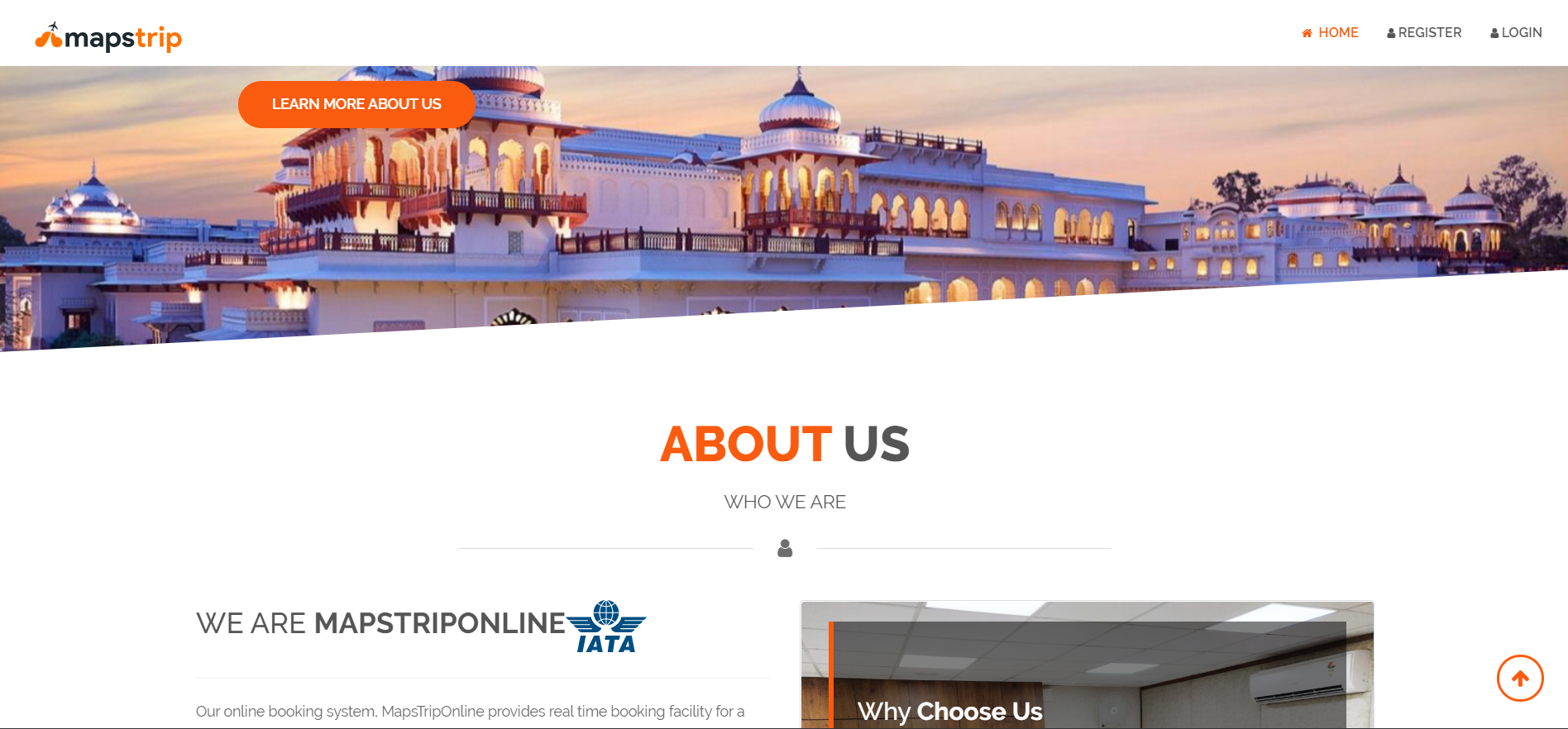 Maps Trip Online is a B2B Travel Services Website